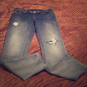 True Religion straight slim jeans